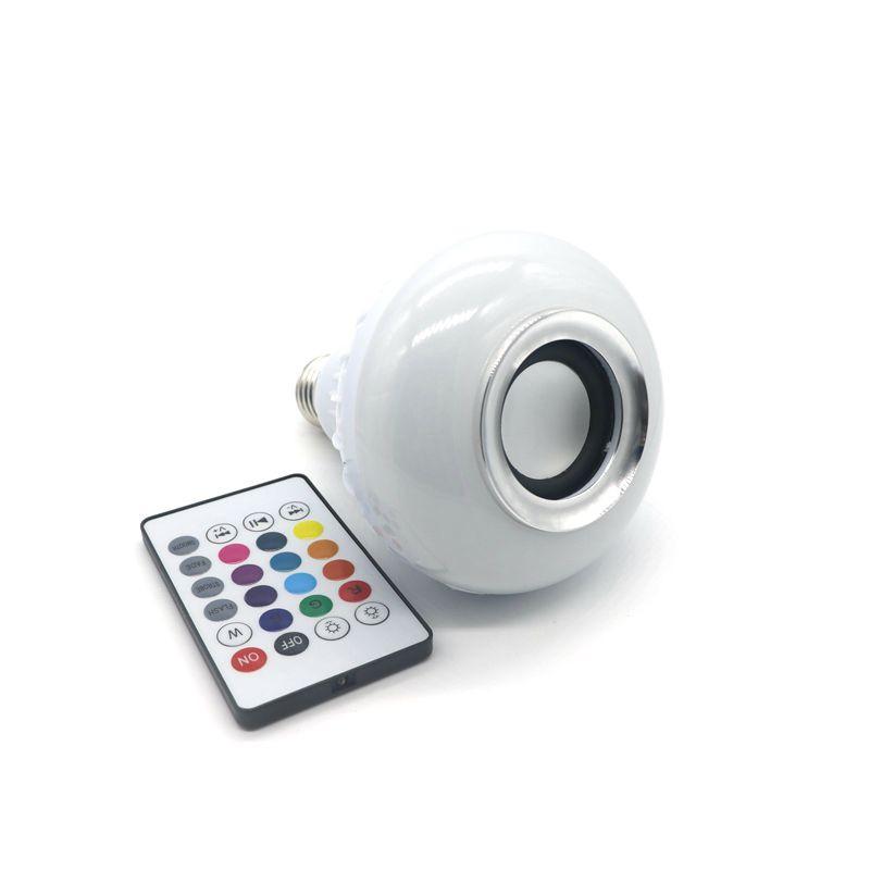 Mp3 Music E27 Led Bulb 6w Rgb Wireless Bluetooth Speaker