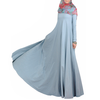 2019 New abaya dress kaftan designs blue color and customized size
