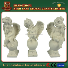 Decorative polyresin cupid little angel statue for home