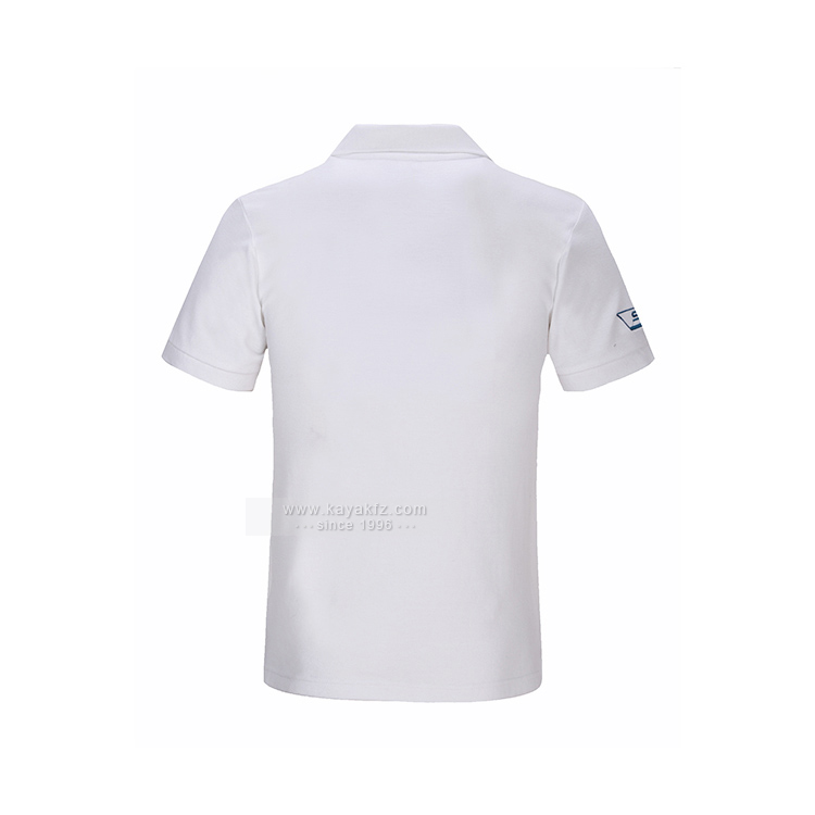 2017 Guangzhou 100% Cotton White Custom Men Cheap Polo Shirts with embroidery logo
