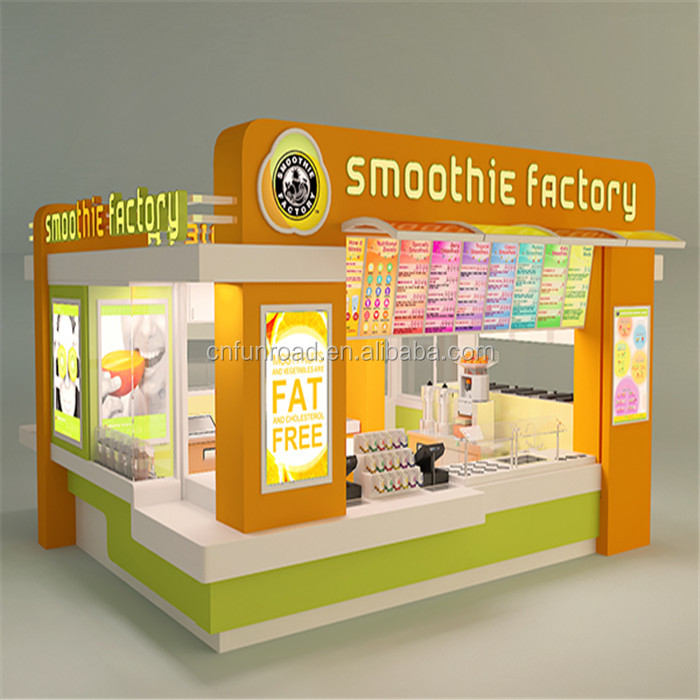 ice cream kiosk design concept for shopping mall