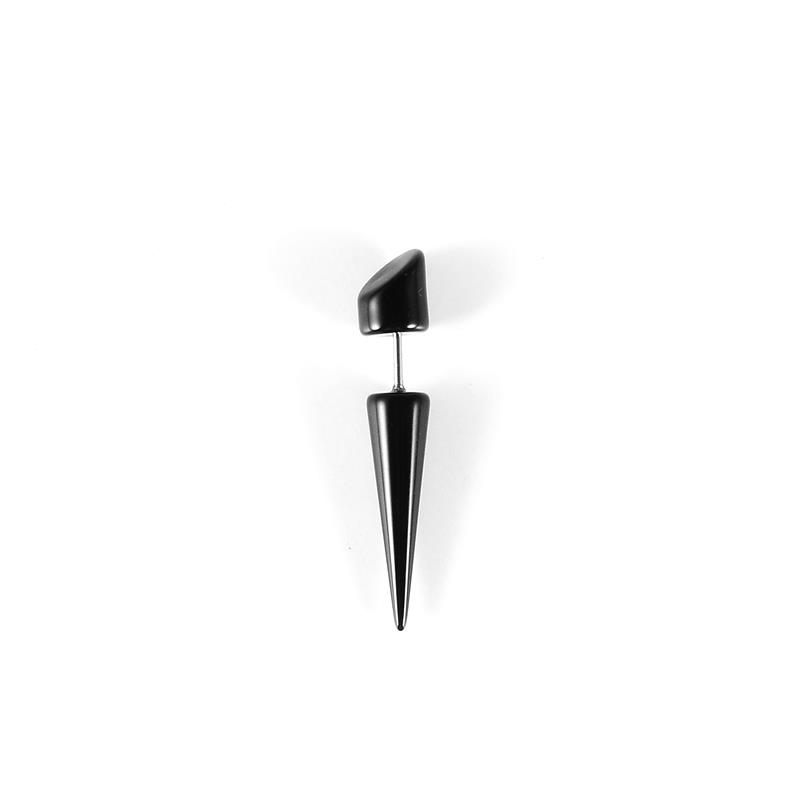 Fashion body piercing acrylic black fake ear studs taper jewelry wholesale