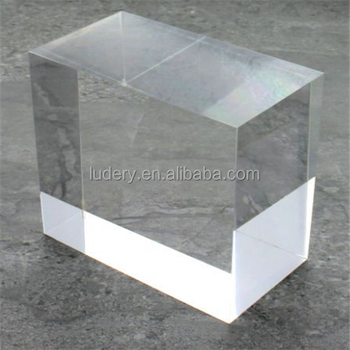 A4 Magnetic Cube Block Plexi Glass Table Acrylic Price Label Display Stands  Tag Sign Display Holders
