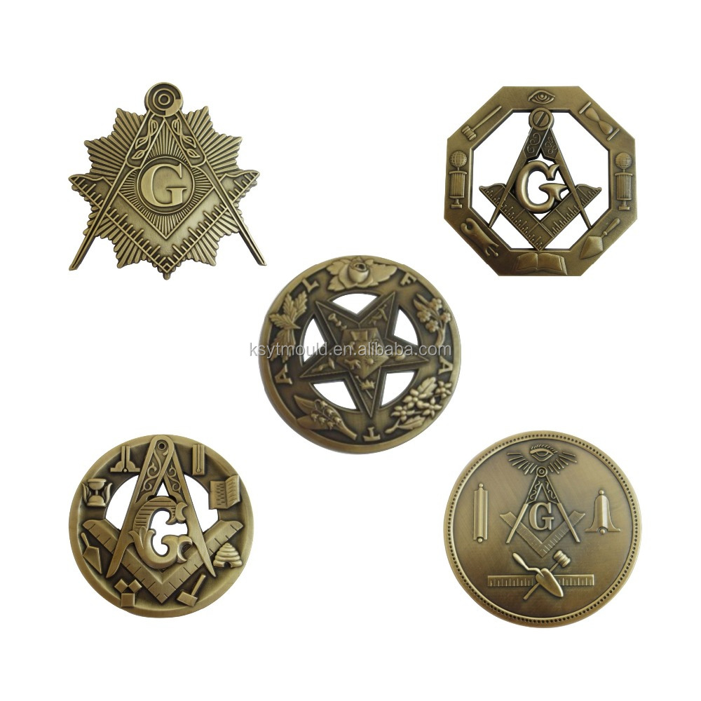 Hot Sell Masonic Freemason Car Badges Emblem In Stock