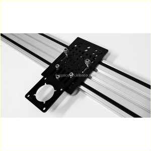 matt black plexiglass laser cut panel trimmed perspex template with microholes slotting acrylic machined square motor mount