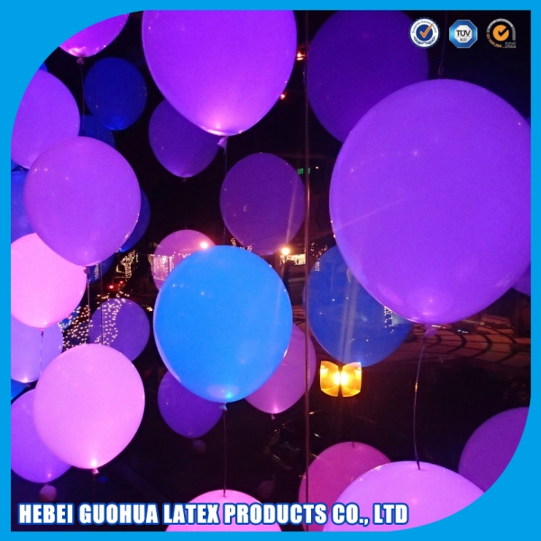 Hanging string light purple led led sparkle balloon with ribbon