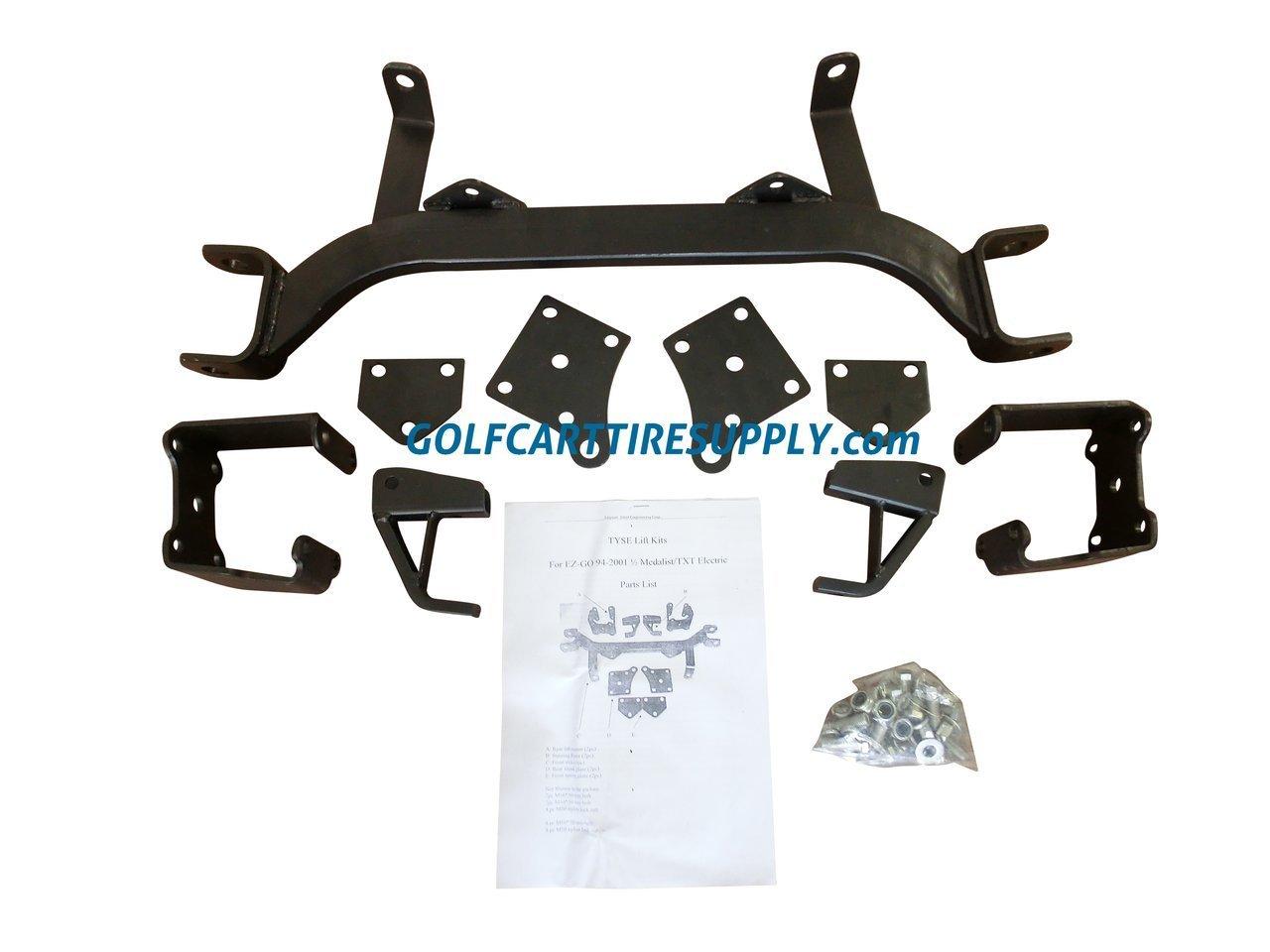 "6"" Drop Axle EZGO Golf Cart Lift Kit for 1994-2001.5 TXT / MEDALIST Electric Golf Carts"