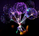 Colorful LED Bobo bubble ballon light baloon luminous balloons for party decoration