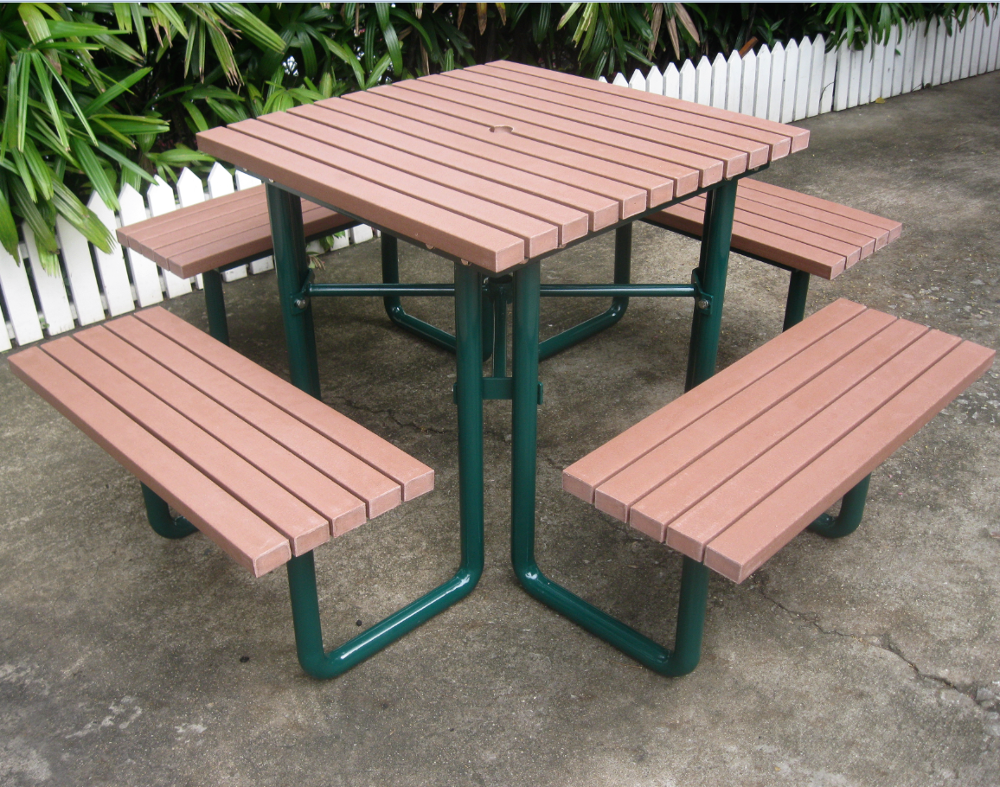 Whole Outdoor Recycled Plastic Picnic Table With Umbrella Hole
