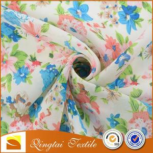 Professional printing 75D*75D pleated chiffon fabric