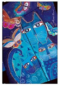 """""""Blue Cats & Butterflies"""" Mini 18-month Academic Weekly Planner, July 2015 to December 2016 (3.5 X 5)"""