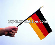hand flag with plastic stick for sporting