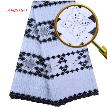 1600 Free Shipping Nigerian Wedding Lace 2019 White And Black Milk Embroidery Lace Fabric