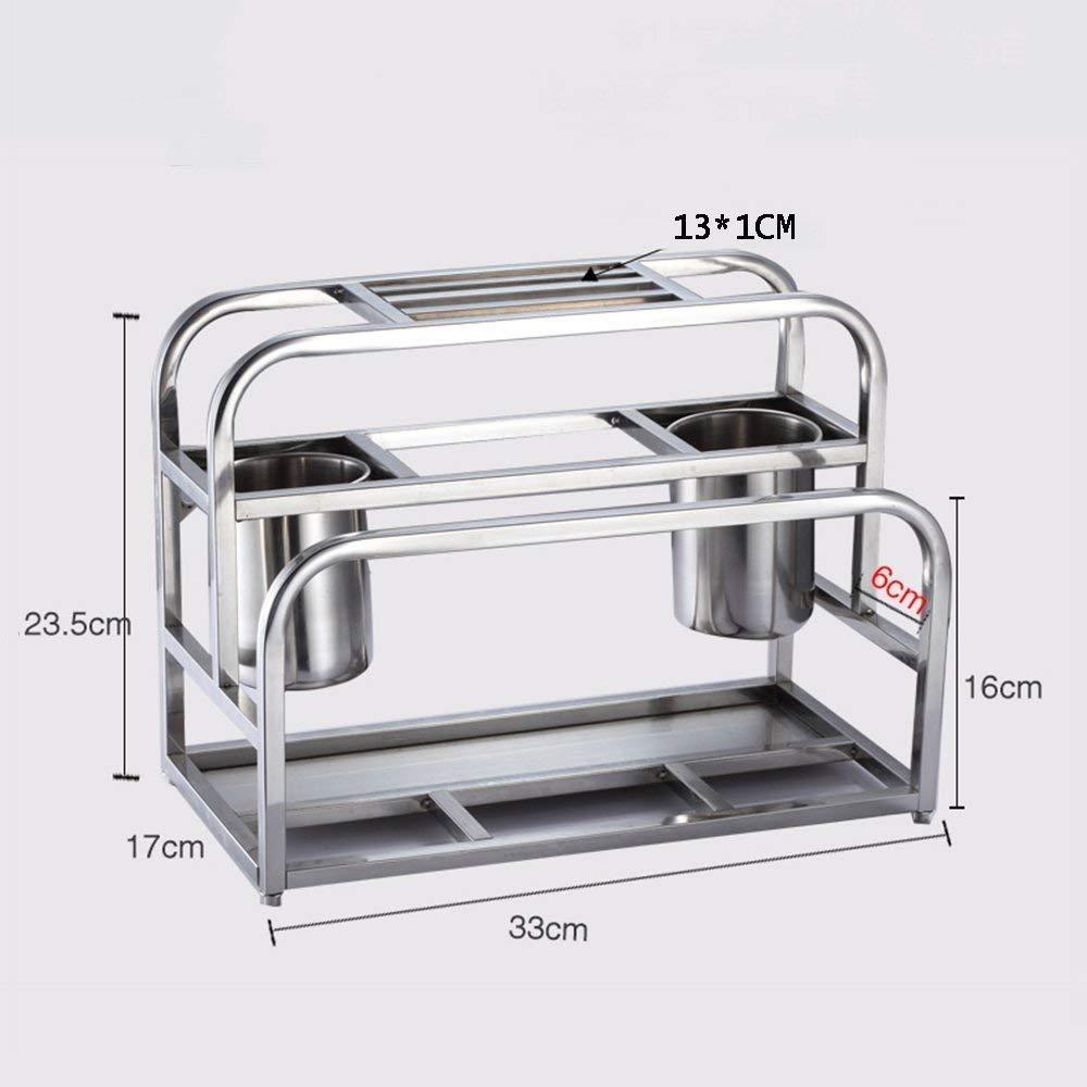 DEE Storage Rack Stainless Steel Knife Holder Kitchen Anvil Rack, Cutting Board Multi-Purpose Kitchen Utensils Shelves