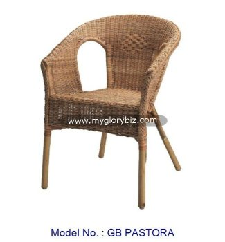 Rattan Stackable Dining Room Chair Furniture Modern Indoor