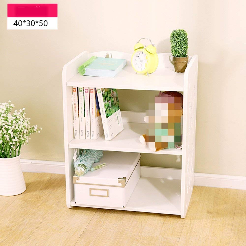 LQQGXL Storage and organization Simple shelves Simple bookcase Student shelves Office storage shelves (Color : No drawer)