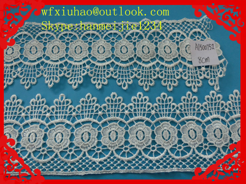 fancy embroidered chemical lace trimming/indian embroidery lace for apparel