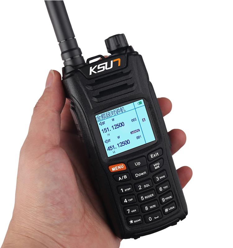 KSX68D-B Dual Band Handheld Two Way Ham Radio Communicator HF