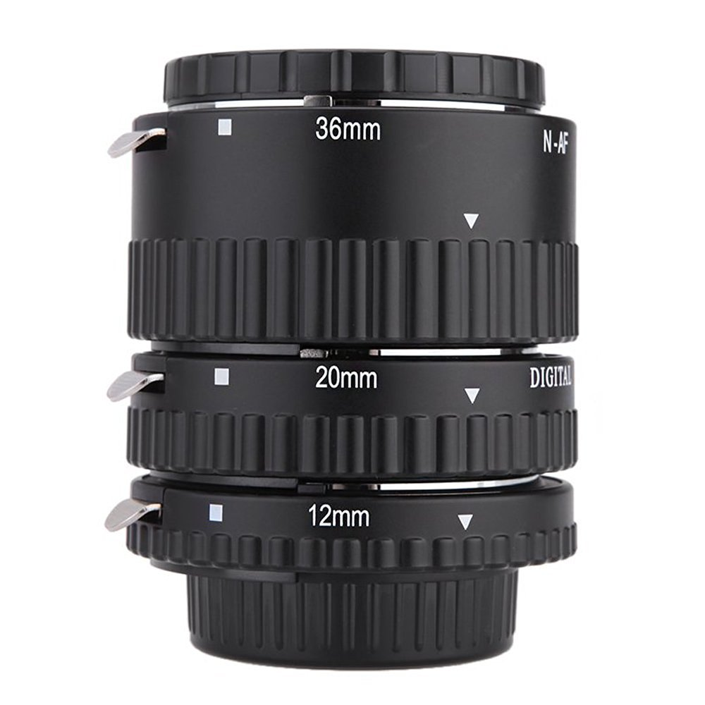 CamDesign Macro Photography Three-Ring Extension Tube Compatible with Canon EOS 1D 1DS Mark II III IV 1DC 1DX D30 D60 10D 20D 30D 40D 50D 60D 5D 7D Rebel XT XTi XSi T1 T1i T2i T3 T4 T4i T5i C300 C500