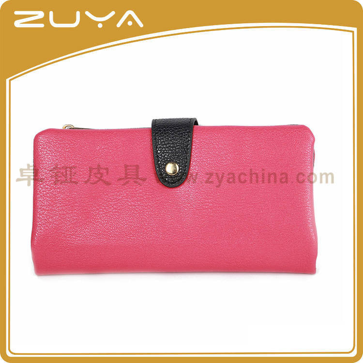 Hot Sell Pu Girls Clutch Bag Lady Travel Wallet