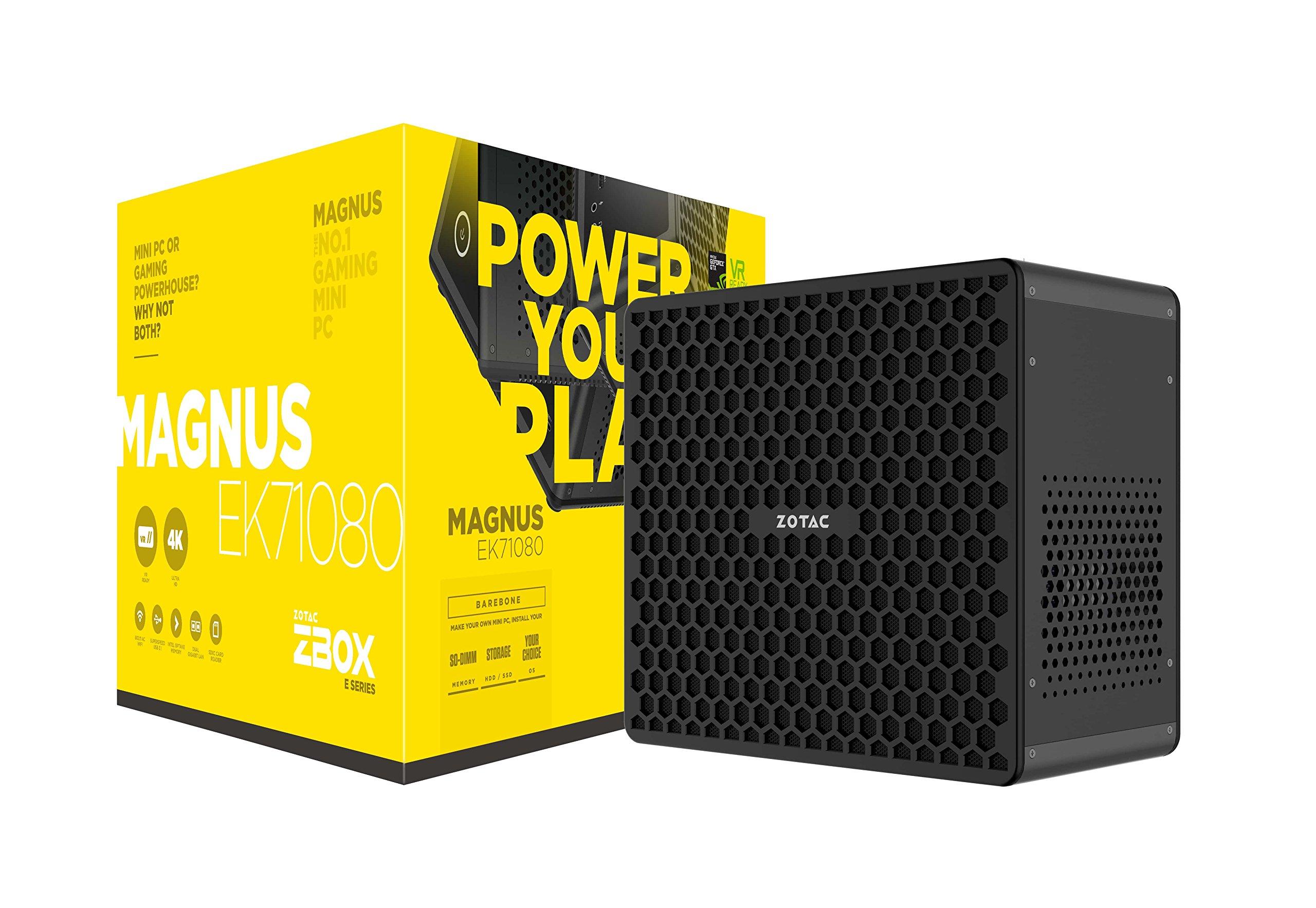 ZOTAC ZBOX-EK71080-U MAGNUS EK71080 Gaming Mini PC GeForce GTX 1080 Intel Core i7-7700HQ Barebone System