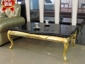 C8052 Gold coffee table gold leaf furniture
