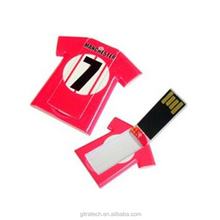 Mini T-Shirt Shape Credit Card Usb Memory Stick 8-64GB 1-8GB With Customed Logo