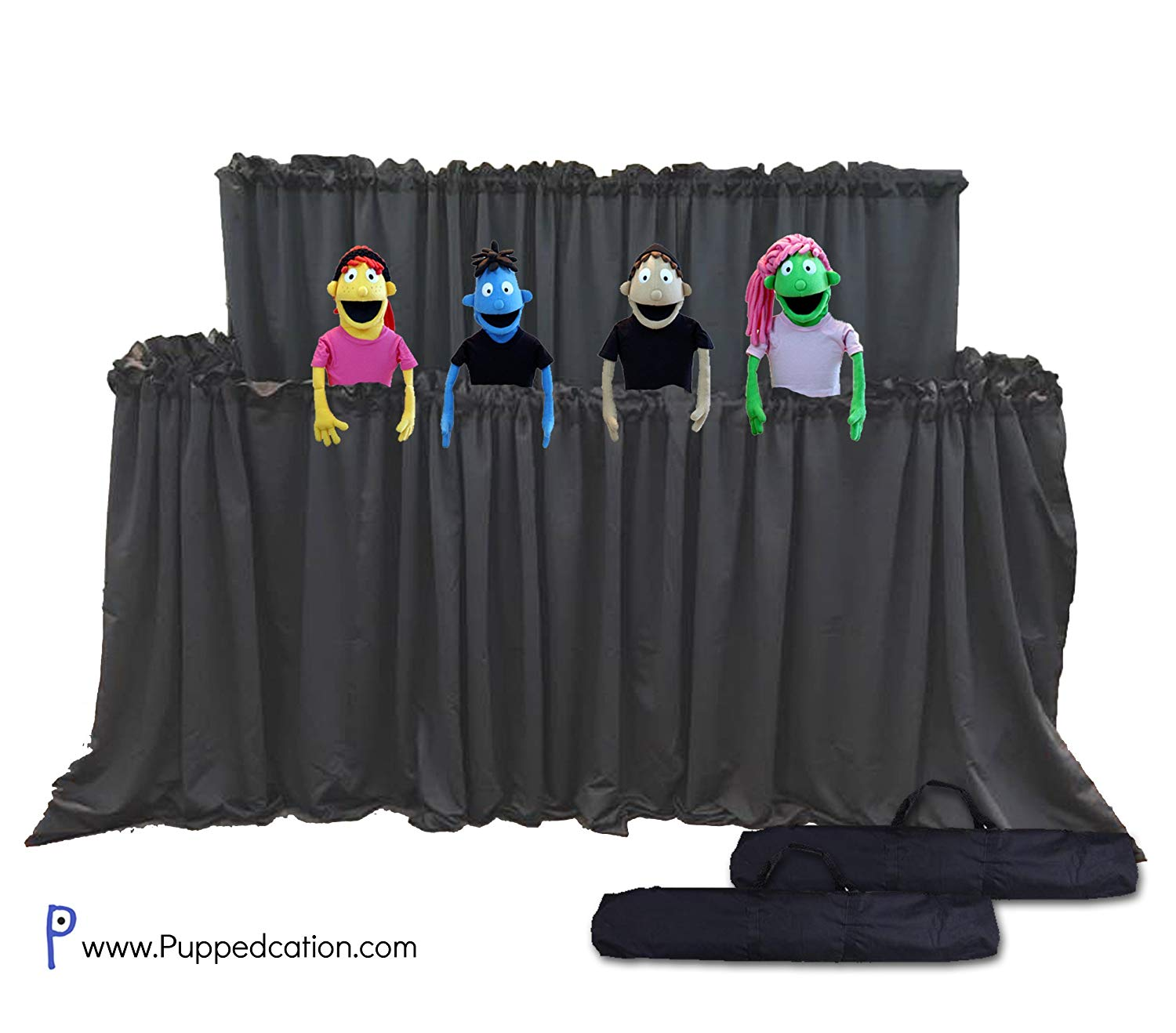 d11a948c Get Quotations · Classroom Puppet Stage XL - 2 Tier Portable Tripod Puppet  Theater w/BAG | Stage