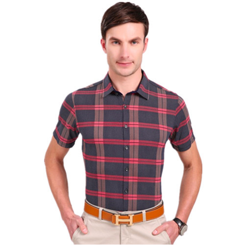 618fedd88ab Buy Summer new fashion men  39 s short-sleeved cotton shirt Slim plaid shirt  male red and black plaid men shirt casual size plus 3XL in Cheap Price on  ...
