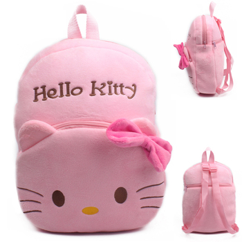 a61991dab961 Cute Hello Kitty baby kids plush backpack toys school bag Children s gift  kindergarten boy girl student