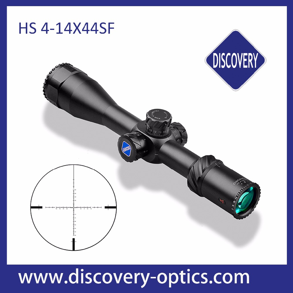latest hunting riflescope Discovery HS 4-14X44SFadjustable green red dot laser sight illuminated tactical riflescope