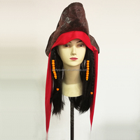 halloween cosplay accessories Pirates of the Caribbean wig with hat