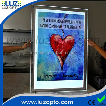 acrylic light boxacrylic a1 wall mount displaywall mounted plexiglass led light box