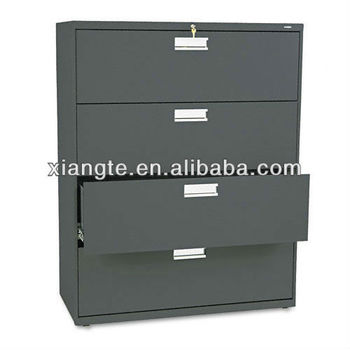 Popular Item! Classic Lateral 4 Drawer Steel File Cabinet, 4 Layer Metal  Locker
