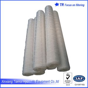 "40"" pp 5 micron pore size wound cartridge filter"