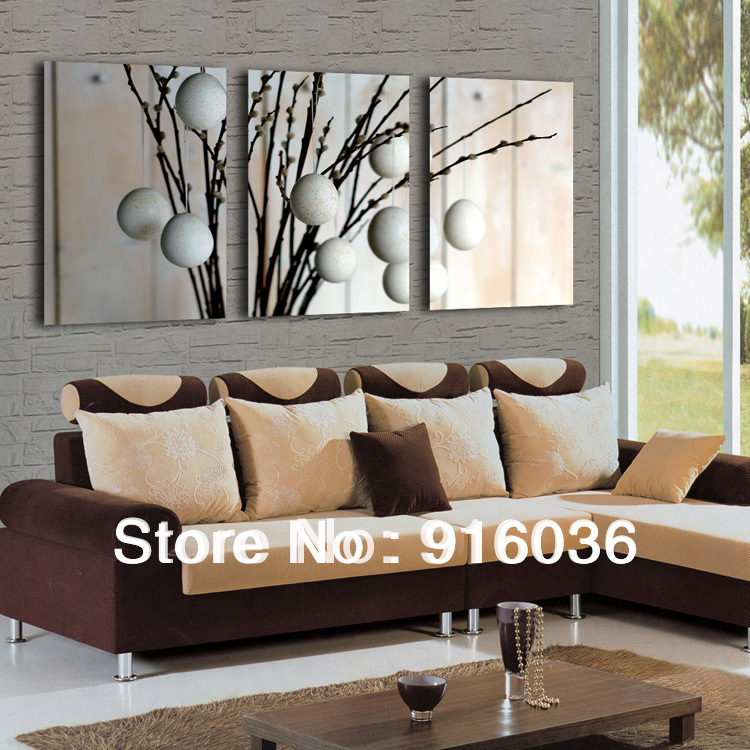Living Rooms On Sale: Free Shipping 3 Panels Art Hot Sale Modern Decorative