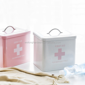 High Quality Metal Storage Bin Home First Aid Box/ Household Medicine  Holder - Buy High Quality Home Decoration Metal Sundries  Canister,Rectangular