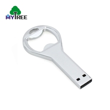 Nice price 32GB 64GB 128GB metal beer bottle opener flash usb drive