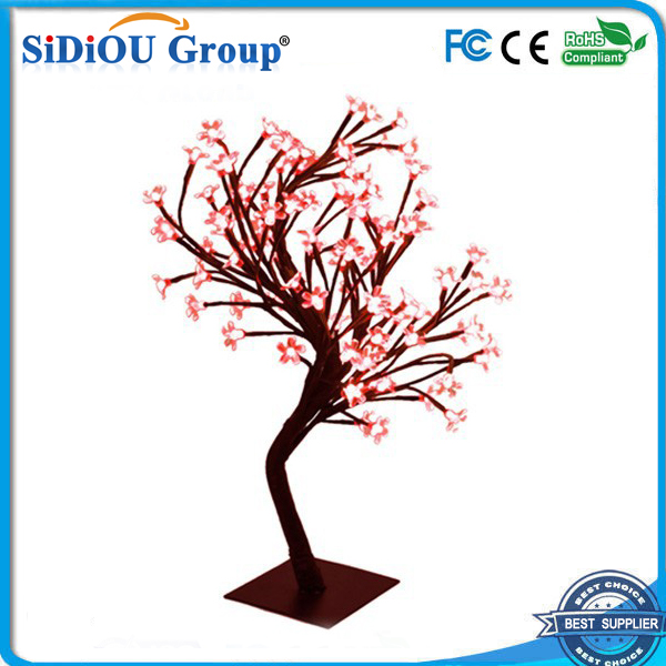 indoor red led cherry blossom christmas tree lights