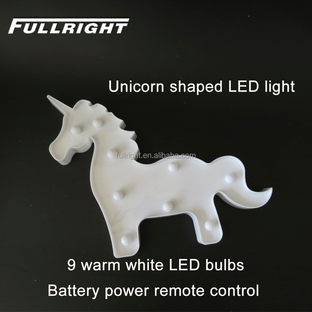 Unicorn light night light lamp children battery powered led lights