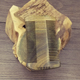 Polished massage beard horn wooden moustache double teeth comb