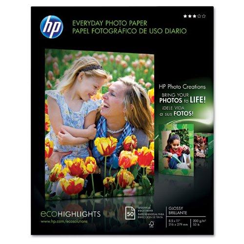HP EVERYDAY SEMI-GLOSS PHOTO PAPER HP EVERYDAY PHOTO PAPER,8.5X11,SEMI GLOSS,50C - Q8723A