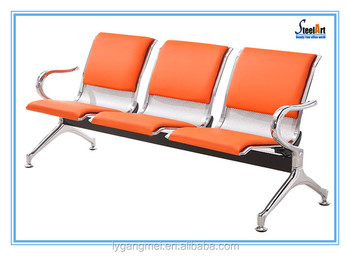 Metal 3 seater colored waiting chairs for salon buy for Colored salon chairs