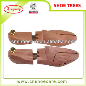 Wholesale luxury wooden cedar tree shoe for leather shoes