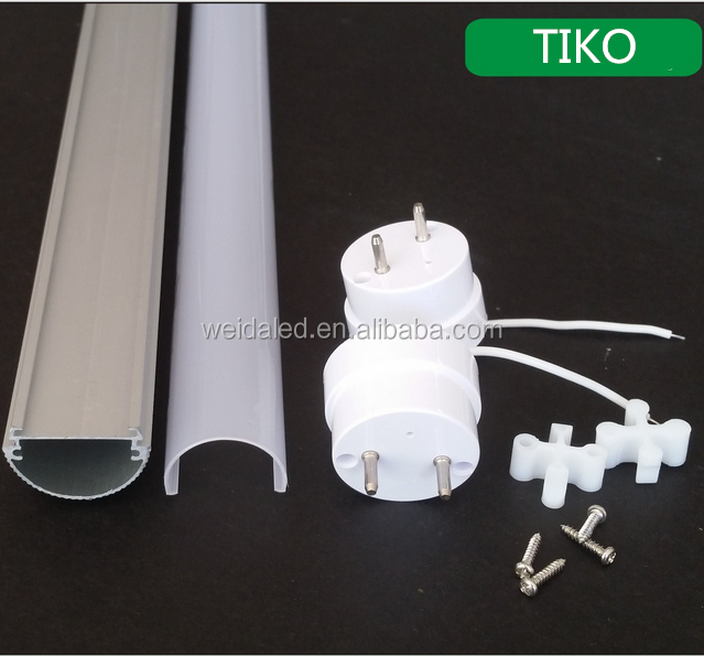 Aluminum+Plastic t8 led tube light housing