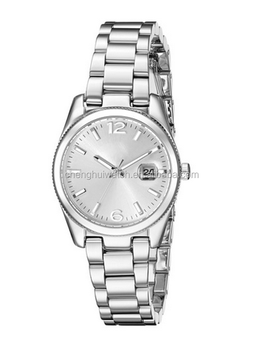 Lady Diamond Japanese Quartz Diamond and Crystal Silver-tone Stainless Steel Bracelet Watch