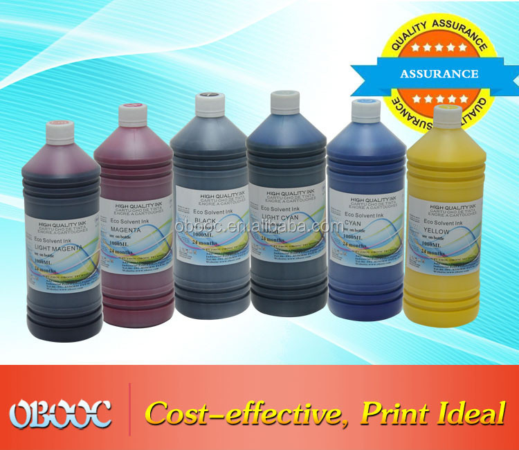 Stable Quality 1000ml Eco Solvent Ink for Epson Stylus Pro Print Head DX5/7