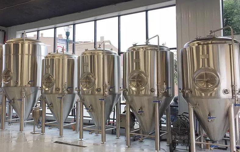 1000 liters  cooling jacket  microbrewery fermenter/unitank