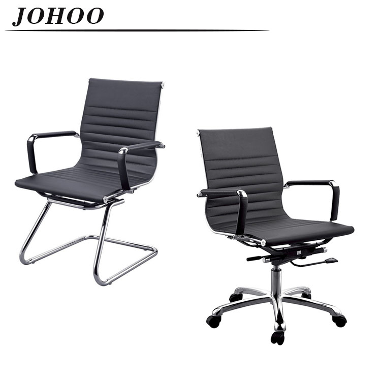 2018 HEATED MODERN LEATHER BOW BASE VISITOR OFFICE CHAIR