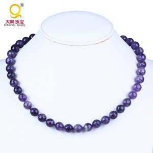 12mm round faceted amethyst beads choker necklace jewelry